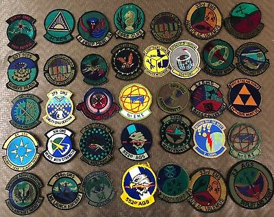 US AIR FORCE  MAINTENANCE SQUADRON PATCH Lot USAF CAMS OMS  30+
