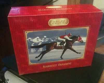 NEW BREYER Seabiscuit Ornament #700156 race horse thoroughbred [RED BOX]