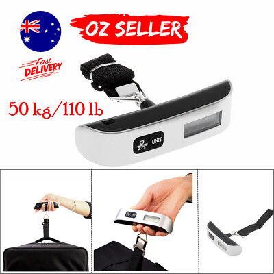 50kg/10g Portable LCD Digital Hanging Luggage Scale Travel Electronic Weight WW#