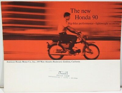 1963 Honda 90 Motorcycle Advertising Flyer – Tommie's Cycle Shop, Seattle