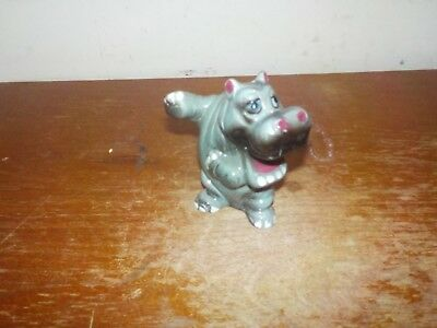 Vintage 1960's Kreiss & Co Ceramics Dancing Hippo Figurine Salt or Pepper Shaker