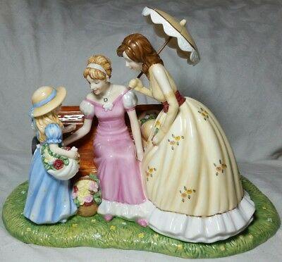 Royal Doulton Sunday at the Park Pretty Ladies Figurine Hand Signed no. 93/1200