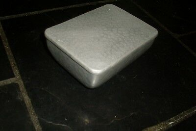Vintage Retro Metal Musical Jewellery Box -Owal Hammer-Wrought Swiss Product