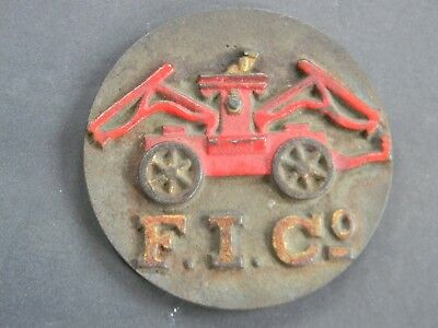 Antique Fire Insurance Company Mark - Painted Cast Iron Plaque - Sign
