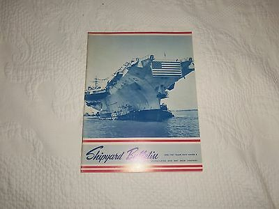 June 1967 Shipyard Bulletin Newport News Shipbuilding & Drydock Cv 67 On Cover