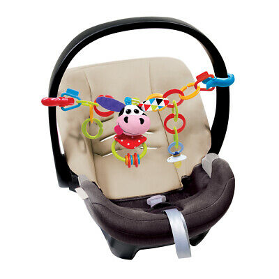 Yookidoo Clips, Rattle 'N' Links Car Seat Stroller Toy – Cow