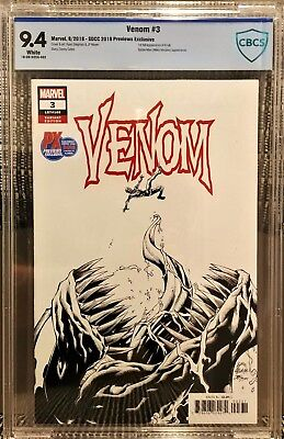 Venom #3 San Diego Comicon Variant, CBCS 9.4 NM, 1st appearance of Knull SDCC