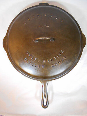 VINTAGE GRISWOLD CAST IRON SKILLET #718-A and DOME LID #474
