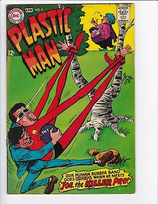 Plastic Man #9 (Mar-Apr 1968, DC) Silver Age Comic Book - See Scans!