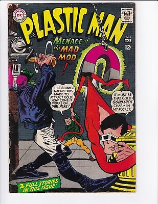 Plastic Man #6 (Oct 1967, DC) - Silver Age Comic Book - See Scans!
