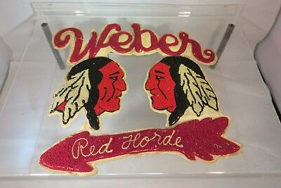 Weber High School Red Horde Letterman's Sweater Patch - 1950's