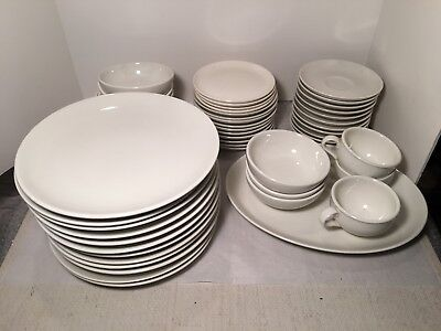 47 Piece Set of Russel Wright Iroquois Casual China White