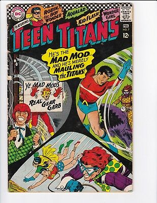 Teen Titans #7 (Feb 1967, DC) - Silver Age Comic Book - See Scans!