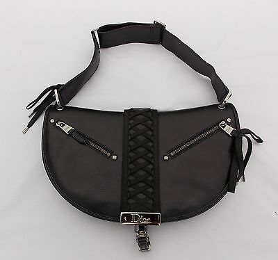 4bd0d54f4a0f AUTHENTIC CHRISTIAN DIOR Hobo Shoulder Bag Purse Signature Leather ...