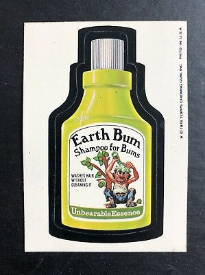 1975 Topps Wacky Packages Original 16th Series 16 EARTHBUM