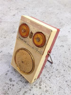 Vintage Two-Tone Zenith Royal 500 Long Distance AM 8 Transistor Radio for Repair
