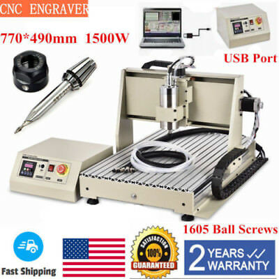 USB 6040 3AXIS CNC Router Engraver Engraving Milling Carving Cutter+1500W VFD