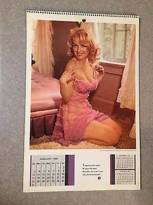 VINTAGE 1960 PLAYBOY WALL CALENDAR 3rd ISSUE EVER VERY RARE! NICE !! WOW !!!