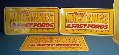 3 Muscle Mustangs & Fast Fords Magazine Advertising License Plates