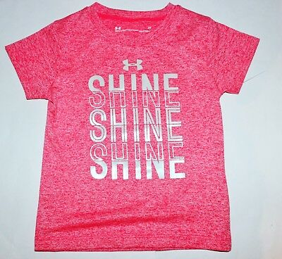 Girls 2T Pink T-shirt New NO Tags Under Armour athletic tee NEW