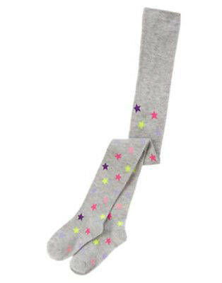 Crazy 8 Girls Small Tights Cheery Good Friends Gray Star Print New te1