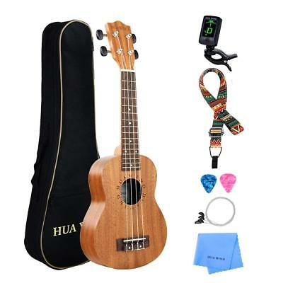 "Soprano CONCERT Tenor 21 23 26"" UKULELE starter package WITH DURABLE PADDED BAG"