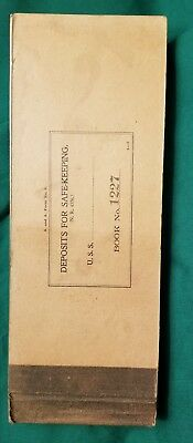 Original WWI U.S. Navy 1918 Dated Ships Deposits Book