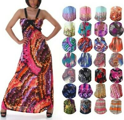 Maxi Dress Halter Neck Dance Dress Multicolour Sexy Salsa Latin Party Cocktail