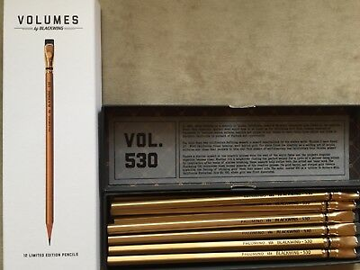 Palomino Blackwing Volume 530 Sutter's Mill. New box of 12 gold pencils.