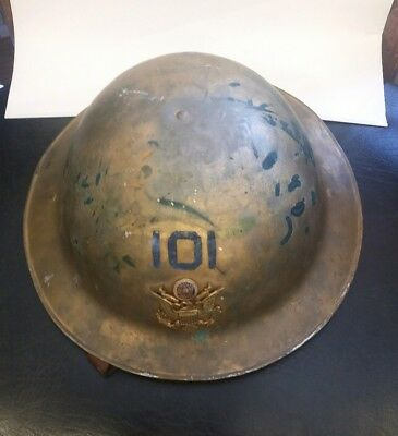 World War 1 American Legion aluminum parade Doughboy Helmet With Chinstrap