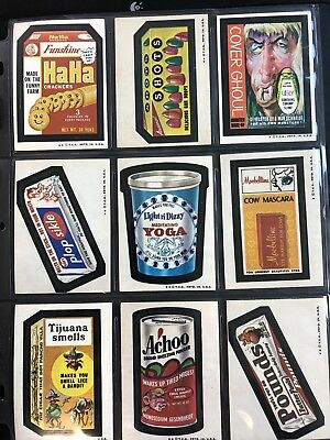 1974 Topps Wacky Packages Original 5th Series Complete Set + Puzzle HIGH GRADE