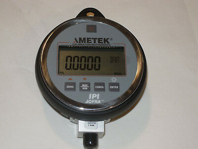 New Ametek Jofra Ipi Industrial Digital Pressure Indicator/Gauge! 100 Psi, 7 Bar