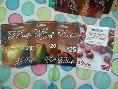 Collectible Gift Cards Top's grocery store w/hangers, set of 4