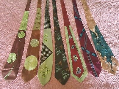 Lot of 27 Vintage 1940s/1950s Neck Ties-Most Designer Silk-Most MINT!