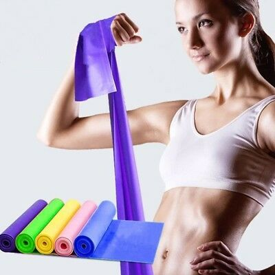 Resistance Bands Latex Yoga Elastic Strap Exercise Home Gym Tube Fitness New