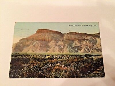 1913  Mt. Garfield with Orchard at Base, Grand Valley, CO Postcard