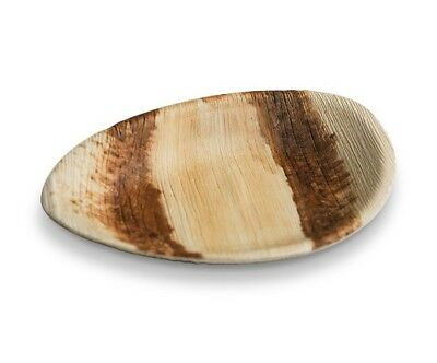 100pcs x Oval Palm Leaf Plates Deep 20cm Wood Bamboo Biodegradable Eco Friendly