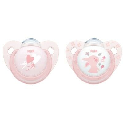 NUK Soother Baby Rose - 0-6 Month - 2 Pack