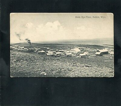 postcard MINE MINING Birds Eye View Sublet Sublette WYOMING Lincoln County DPO