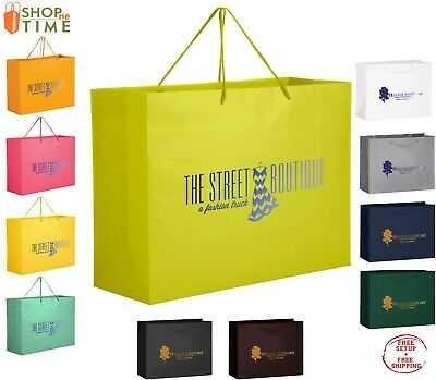 "Custom Matte Laminated Euro Tote Bag  13"" x 10"" x 5"" Foil Stamp with your Logo"