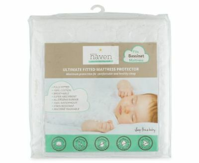 Little Haven Bassinet Mattress Protector (40x80cm)