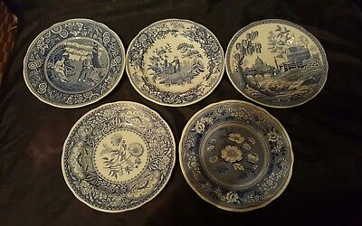 5 The Spode Blue Room collection Georgian series Perfect Condition