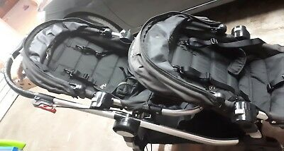 Black Baby Jogger City Select Double Pram-Stroller. Good used condition.
