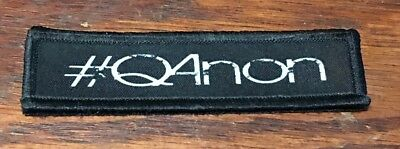 1x4 QAnon  Morale Patch Tactical Military Army Flag Hook Badge USA