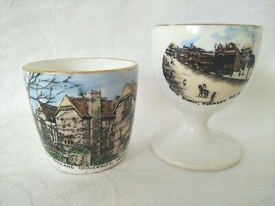 Pair Souvenir Egg Cups Kempsey and Armidaie