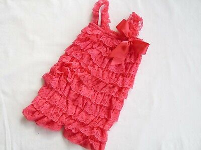 Baby Girl Romper, Lace Vintage Style Romper, Baby Girl One Piece, 0-6M
