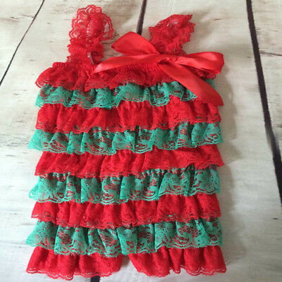 Baby Girl Xmas Romper, Lace Vintage Style Romper, Baby Girl 1St Christmas, 0-6M