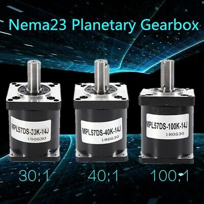 Nema 23 Planetary Gearbox Speed Reducer 30:1 40:100:1 for DIY CNC Mill Lathe NEW