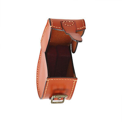 Tourbon Fly Fishing Reel Case Carry Pouch Spinning Cover Real Leather Adjustable