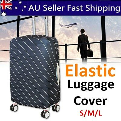 "Elastic Travel Luggage Suitcase Spandex Dust-proof Cover Protector For 20-30"" AU"